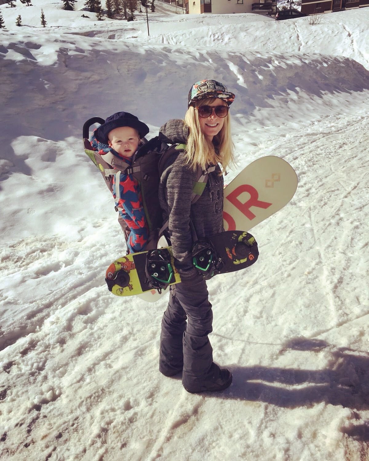 3 ways to snowboard with a baby before they can walk